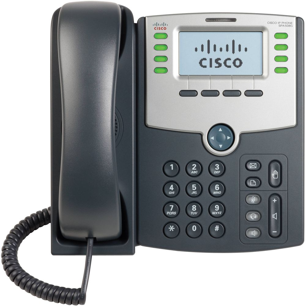 Cisco SPA504G 4-Line IP Phone with 2-Port Switch PoE and LCD Display